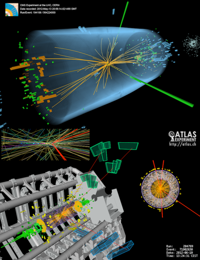 Candidate Higgs Events in ATLAS and CMS
